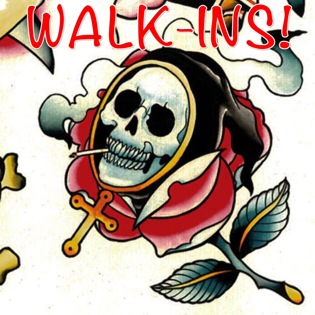 berlin tattoo, walk in, tattoo flash, walk-in, walkin, reaper tattoo